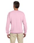 Light Pink 7.75 oz. Heavy Blend™ 50/50 Fleece Crew as seen from the back