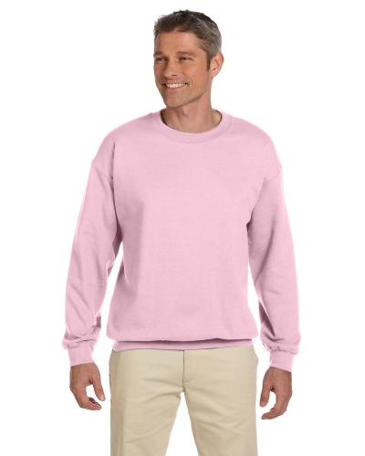 Light Pink 7.75 oz. Heavy Blend™ 50/50 Fleece Crew as seen from the front