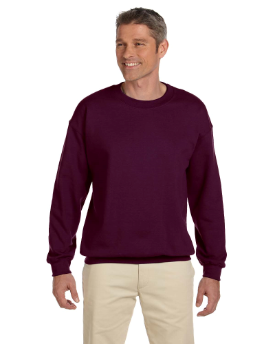 Maroon 7.75 oz. Heavy Blend™ 50/50 Fleece Crew as seen from the front