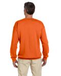 Orange 7.75 oz. Heavy Blend™ 50/50 Fleece Crew as seen from the back