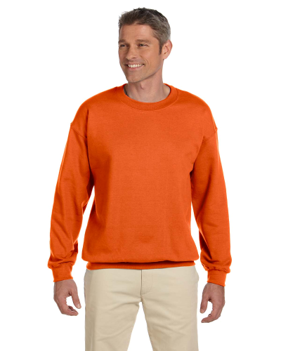 Orange 7.75 oz. Heavy Blend™ 50/50 Fleece Crew as seen from the front