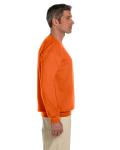 Orange 7.75 oz. Heavy Blend™ 50/50 Fleece Crew as seen from the sleeveleft