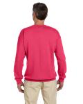 Paprika 7.75 oz. Heavy Blend™ 50/50 Fleece Crew as seen from the back