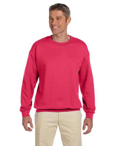 Paprika 7.75 oz. Heavy Blend™ 50/50 Fleece Crew as seen from the front