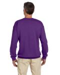 Purple 7.75 oz. Heavy Blend™ 50/50 Fleece Crew as seen from the back