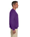 Purple 7.75 oz. Heavy Blend™ 50/50 Fleece Crew as seen from the sleeveleft