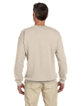 Sand 7.75 oz. Heavy Blend™ 50/50 Fleece Crew as seen from the back