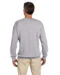 Sport Grey 7.75 oz. Heavy Blend™ 50/50 Fleece Crew as seen from the back