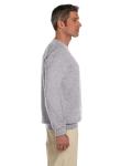 Sport Grey 7.75 oz. Heavy Blend™ 50/50 Fleece Crew as seen from the sleeveleft