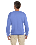 Violet 7.75 oz. Heavy Blend™ 50/50 Fleece Crew as seen from the back