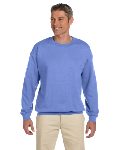 Violet 7.75 oz. Heavy Blend™ 50/50 Fleece Crew as seen from the front