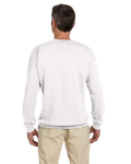 White 7.75 oz. Heavy Blend™ 50/50 Fleece Crew as seen from the back