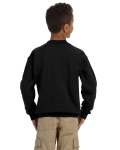 Black Youth 8 oz. Heavy Blend 50/50 Fleece Crew as seen from the back