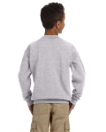 Sport Grey Youth 8 oz. Heavy Blend 50/50 Fleece Crew as seen from the back