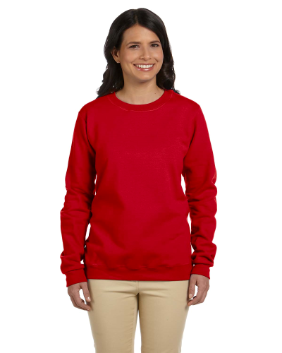 Cherry Red Heavy Blend™ Ladies' 8 oz., 50/50 Fleece Crew as seen from the front