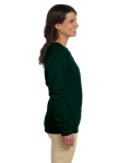 Forest Green Heavy Blend™ Ladies' 8 oz., 50/50 Fleece Crew as seen from the sleeveleft