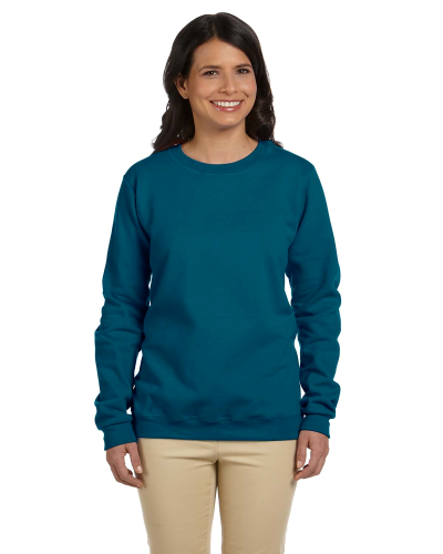 Galapogos Blue Heavy Blend™ Ladies' 8 oz., 50/50 Fleece Crew as seen from the front