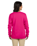 Heliconia Heavy Blend™ Ladies' 8 oz., 50/50 Fleece Crew as seen from the back