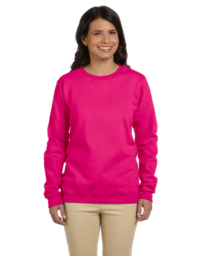 Heliconia Heavy Blend™ Ladies' 8 oz., 50/50 Fleece Crew as seen from the front