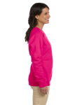 Heliconia Heavy Blend™ Ladies' 8 oz., 50/50 Fleece Crew as seen from the sleeveleft