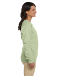 Serene Green Heavy Blend™ Ladies' 8 oz., 50/50 Fleece Crew as seen from the sleeveleft