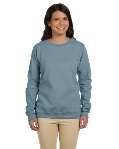 Stone Blue Heavy Blend™ Ladies' 8 oz., 50/50 Fleece Crew as seen from the front