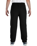 Black Heavy Blend 8 oz., 50/50 Sweatpants as seen from the back