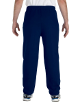 Navy Heavy Blend 8 oz., 50/50 Sweatpants as seen from the back