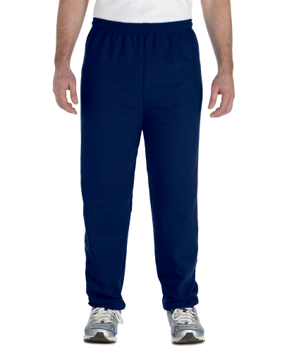 Navy Heavy Blend 8 oz., 50/50 Sweatpants as seen from the front