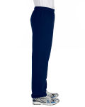 Navy Heavy Blend 8 oz., 50/50 Sweatpants as seen from the sleeveleft