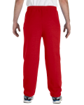 Red Heavy Blend 8 oz., 50/50 Sweatpants as seen from the back