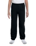 Black Heavy Blend™ Youth 8 oz., 50/50 Sweatpants as seen from the front