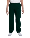 Forest Green Heavy Blend™ Youth 8 oz., 50/50 Sweatpants as seen from the front