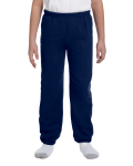 Navy Heavy Blend™ Youth 8 oz., 50/50 Sweatpants as seen from the front