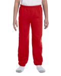 Red Heavy Blend™ Youth 8 oz., 50/50 Sweatpants as seen from the front