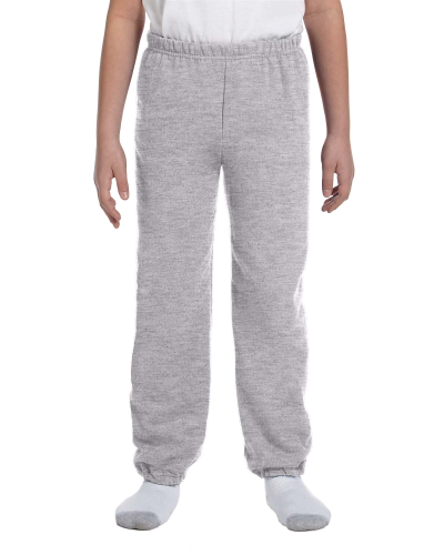 Sport Grey Heavy Blend™ Youth 8 oz., 50/50 Sweatpants as seen from the front