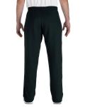 Black Heavy Blend™ 8 oz., 50/50 Open-Bottom Sweatpants as seen from the back