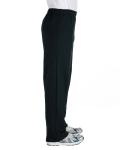 Black Heavy Blend™ 8 oz., 50/50 Open-Bottom Sweatpants as seen from the sleeveleft
