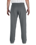 Charcoal Heavy Blend™ 8 oz., 50/50 Open-Bottom Sweatpants as seen from the back