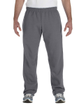 Charcoal Heavy Blend™ 8 oz., 50/50 Open-Bottom Sweatpants as seen from the front