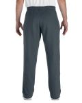 Dark Heather Heavy Blend™ 8 oz., 50/50 Open-Bottom Sweatpants as seen from the back
