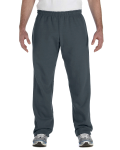 Dark Heather Heavy Blend™ 8 oz., 50/50 Open-Bottom Sweatpants as seen from the front