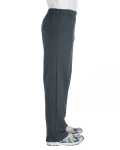 Dark Heather Heavy Blend™ 8 oz., 50/50 Open-Bottom Sweatpants as seen from the sleeveleft