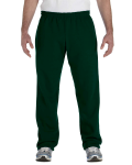 Forest Green Heavy Blend™ 8 oz., 50/50 Open-Bottom Sweatpants as seen from the front