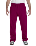 Maroon Heavy Blend™ 8 oz., 50/50 Open-Bottom Sweatpants as seen from the front