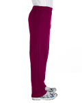 Maroon Heavy Blend™ 8 oz., 50/50 Open-Bottom Sweatpants as seen from the sleeveleft