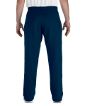 Navy Heavy Blend™ 8 oz., 50/50 Open-Bottom Sweatpants as seen from the back