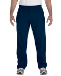 Navy Heavy Blend™ 8 oz., 50/50 Open-Bottom Sweatpants as seen from the front