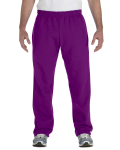 Purple Heavy Blend™ 8 oz., 50/50 Open-Bottom Sweatpants as seen from the front