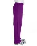 Purple Heavy Blend™ 8 oz., 50/50 Open-Bottom Sweatpants as seen from the sleeveleft